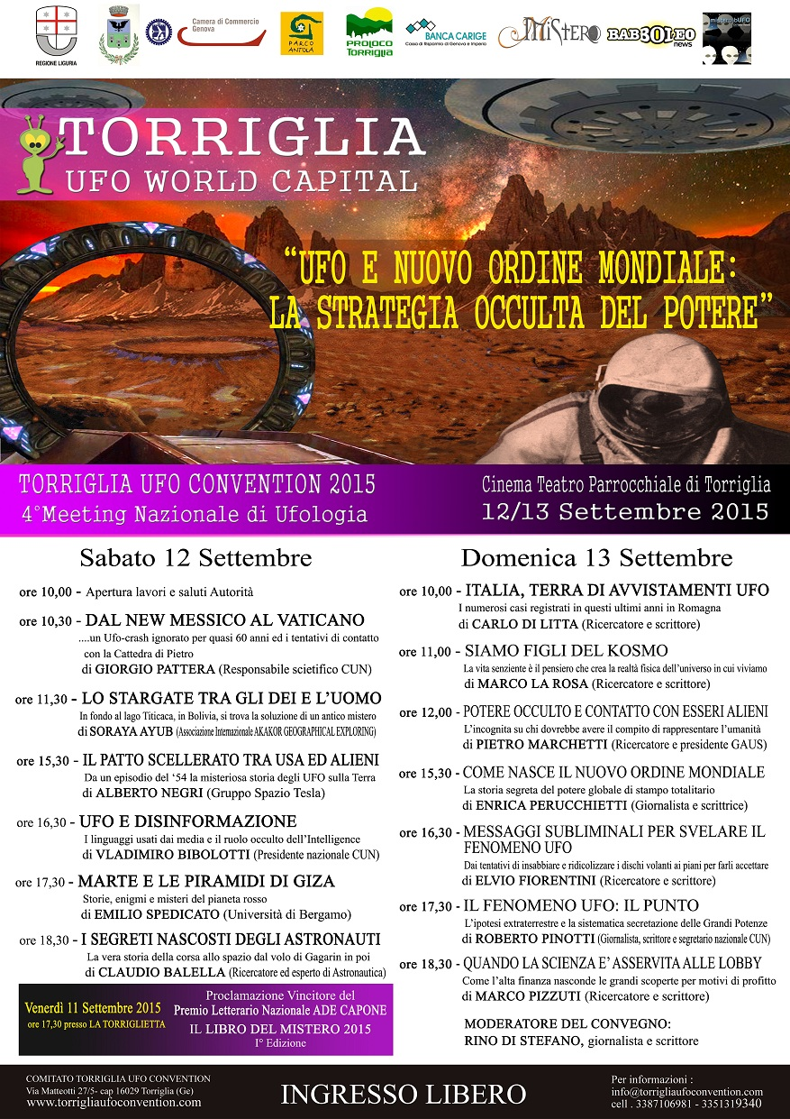 Manifesto definitivo Torriglia Ufo Convention 2015
