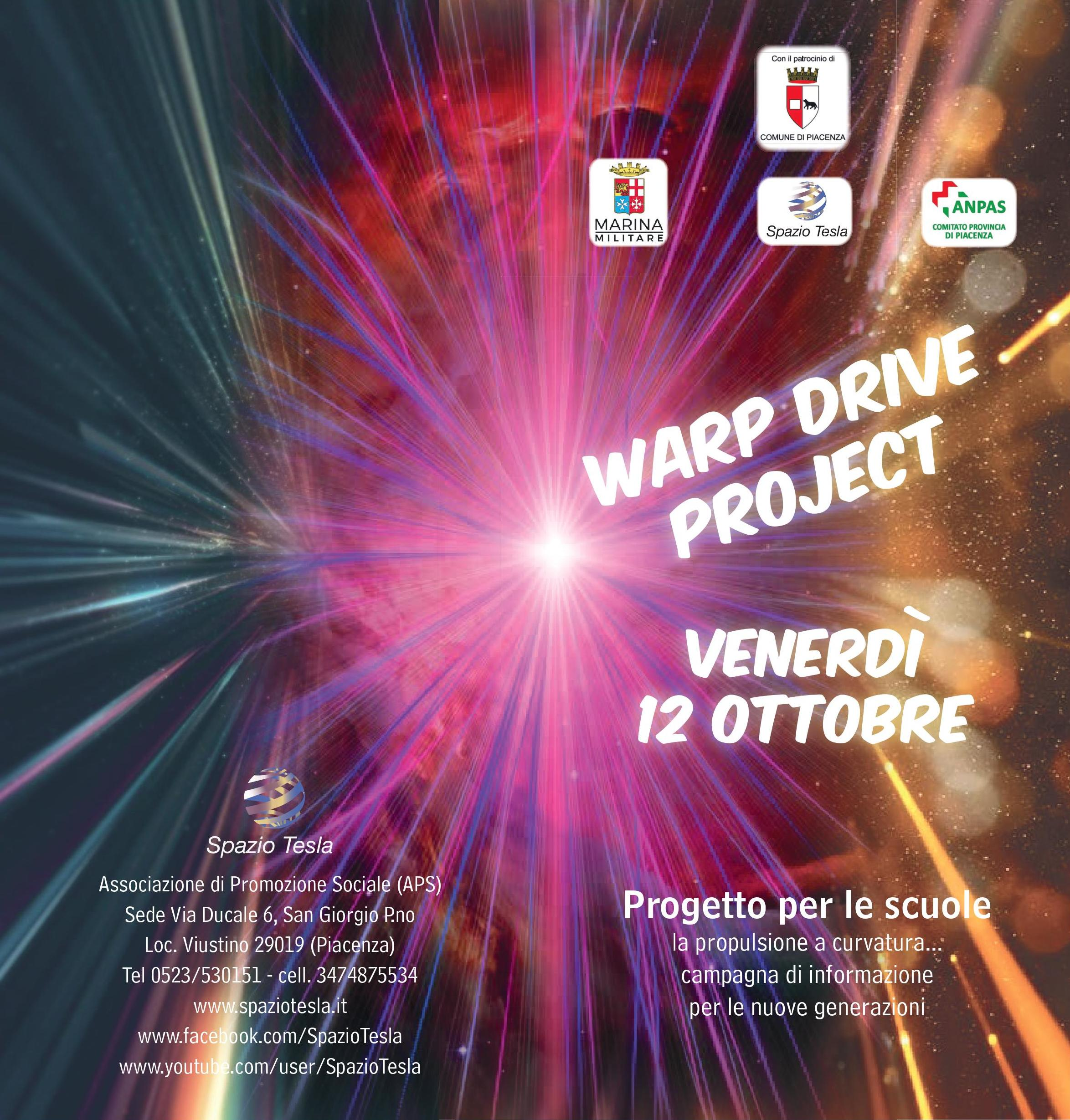 Locandina Warp Drive Project MM 2018