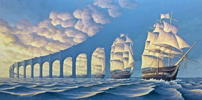 i quadri surreali di robert gonsalves 1